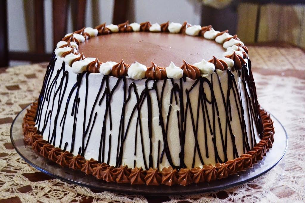 6 layer cake al fondente
