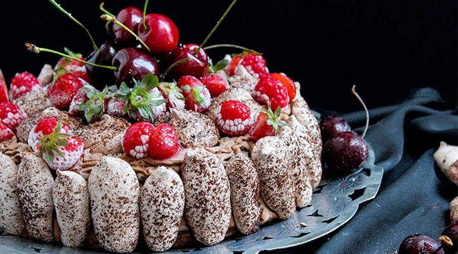meringata cioccolato e crema cacao