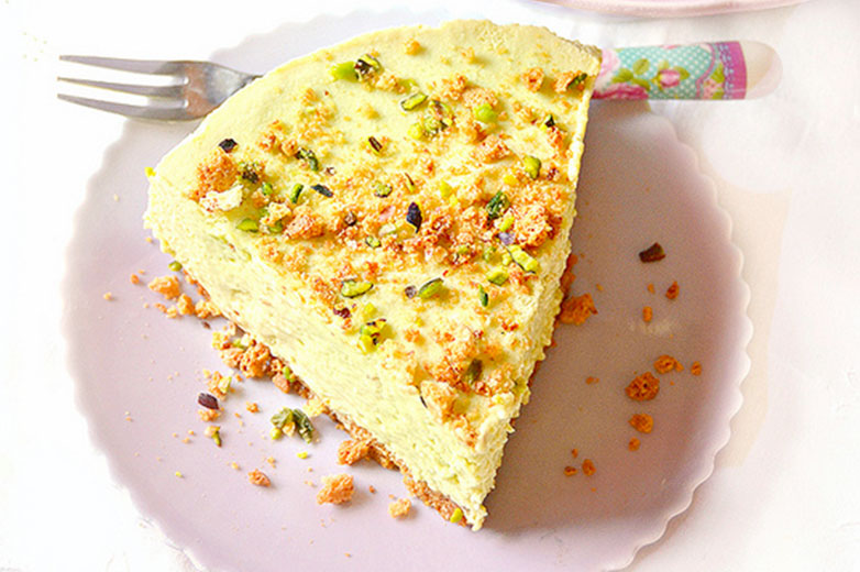 cheesecake pistacchio meringa e ricotta