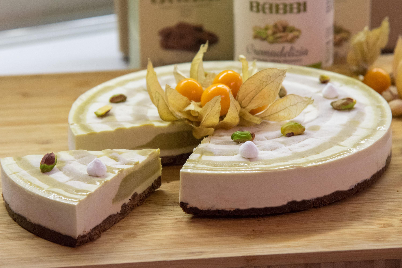 cheesecake pistacchio e biscokrok