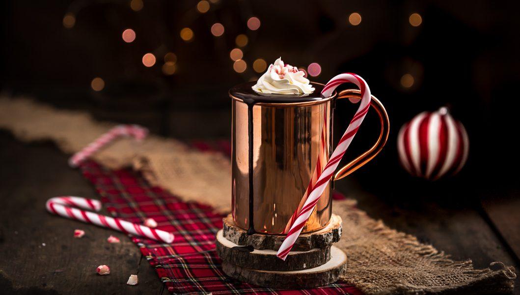 cioccolata calda menta pistacchio e candy cane