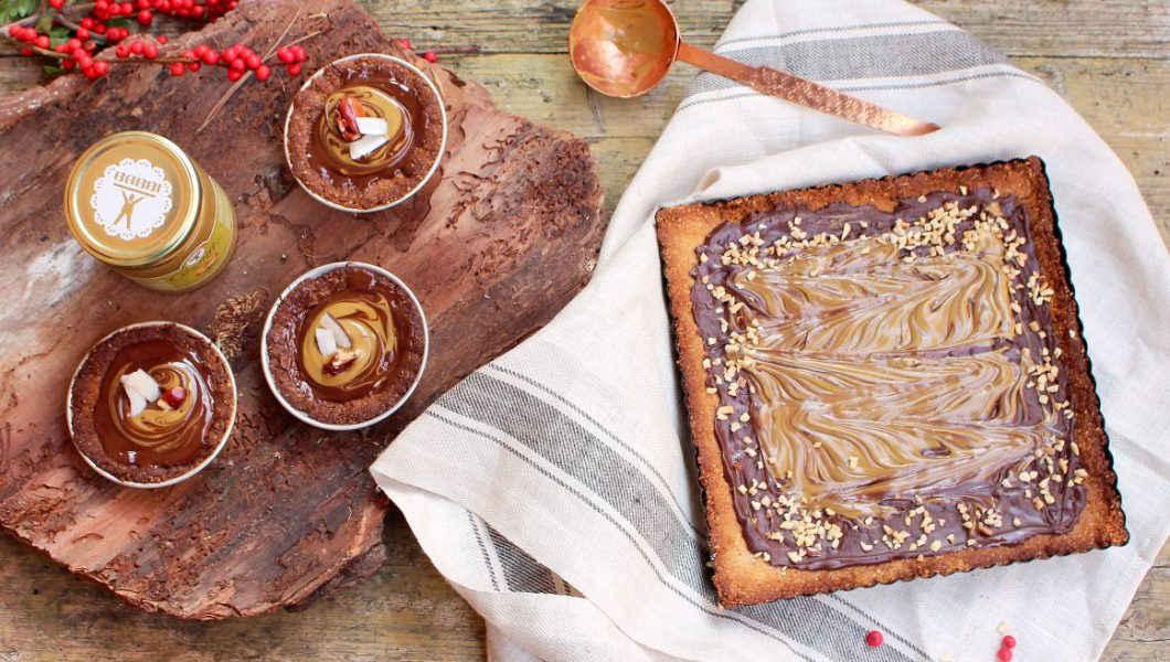 crostata vegan cioccolato e crema di pistacchio