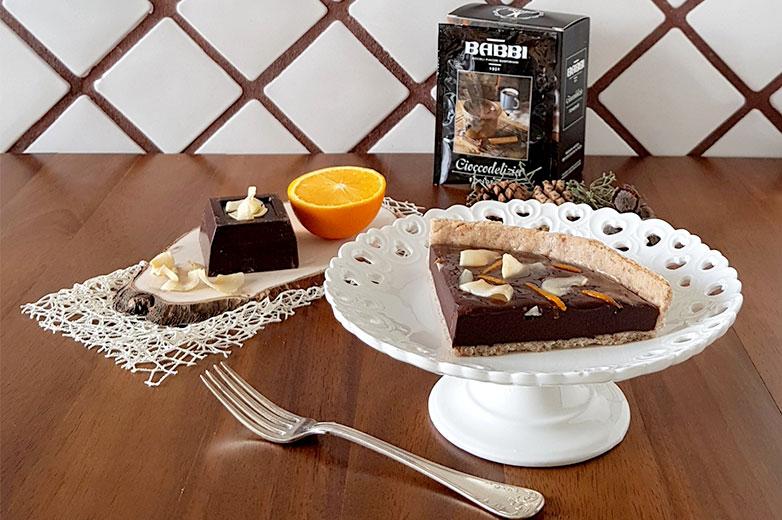crostata cioccolato, arancia e cocco