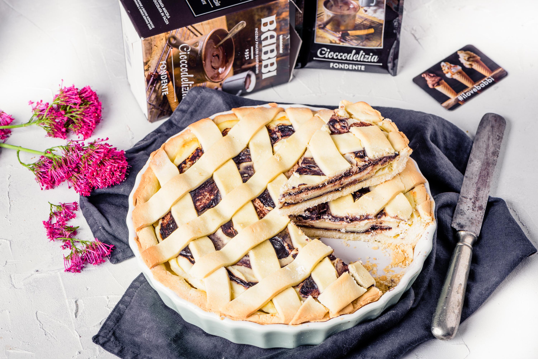 crostata ricotta e cioccodelizia fondente