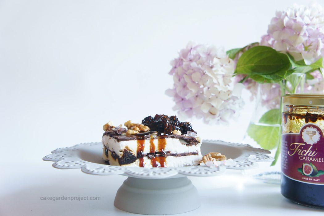 millefoglie cioccolata e fichi caramellati