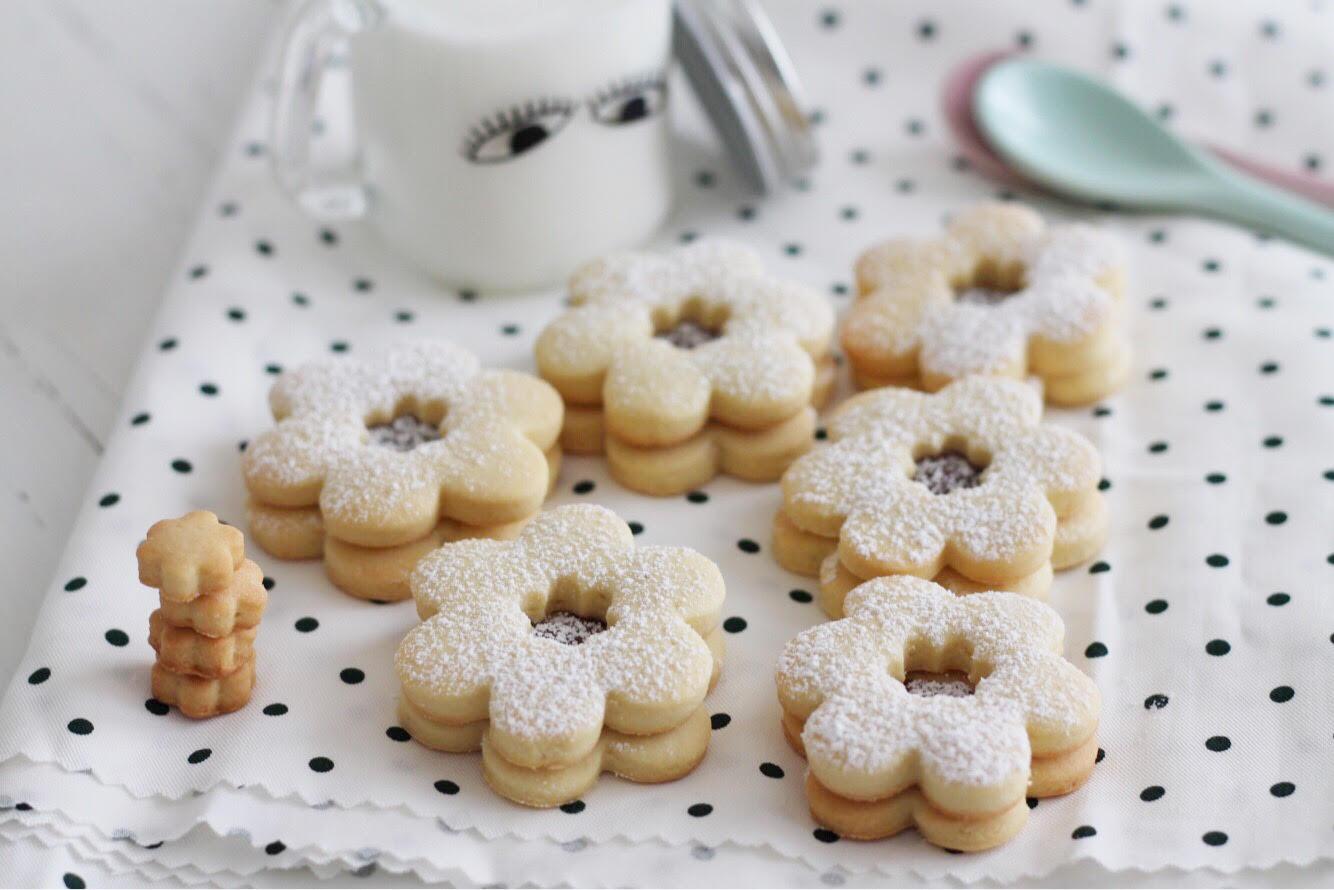biscotti di frolla con crema nocciole