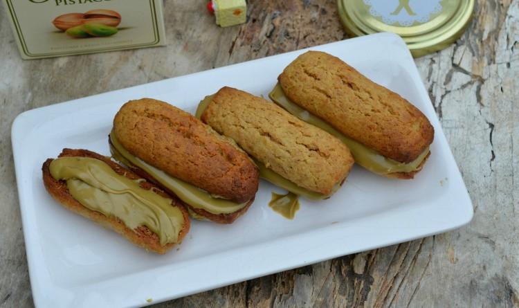 biscotti con crema pistacchio