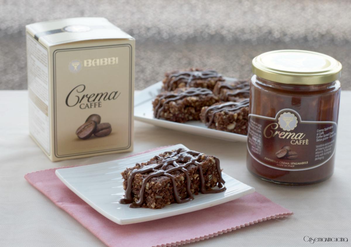 brownies frutta secca e caffè