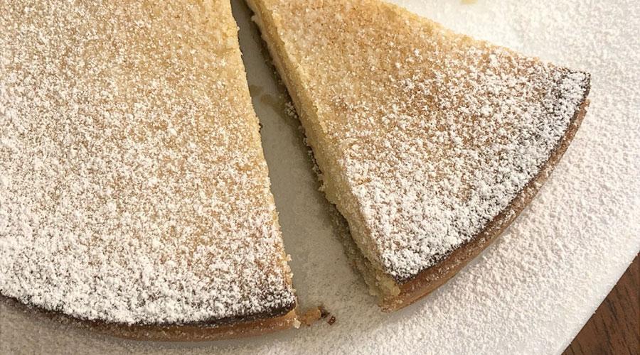 crostata ricotta e pistacchio