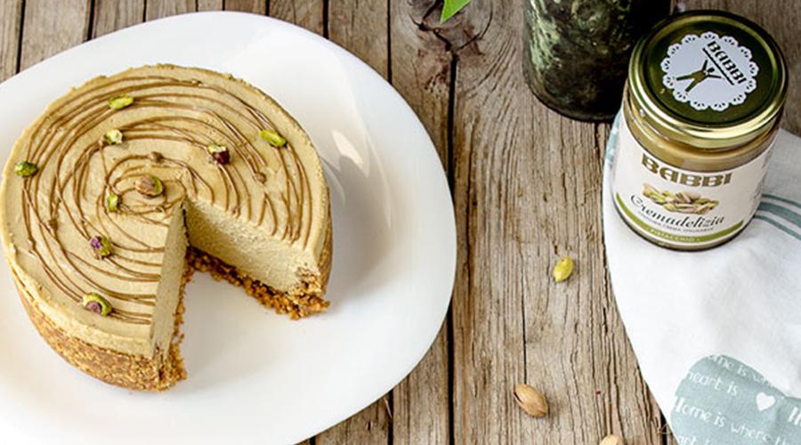 cheesecake fredda pistacchio