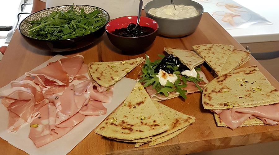 Piadina romagnola al pistacchio
