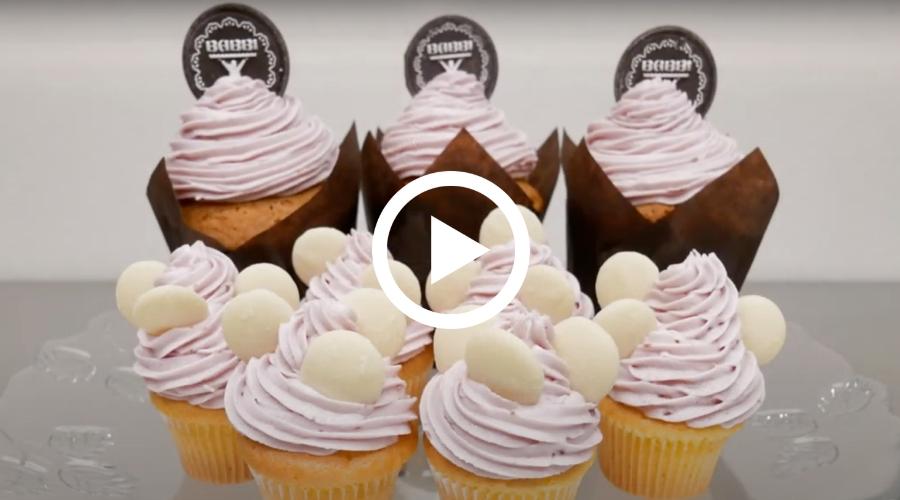 Cupcakes con Frosting al lampone
